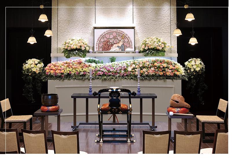 自社専用の家族葬ホール完備